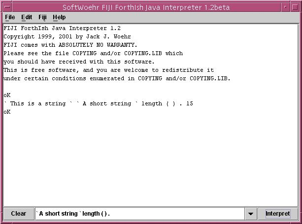 screen shot of fiji manipulating a java lang string